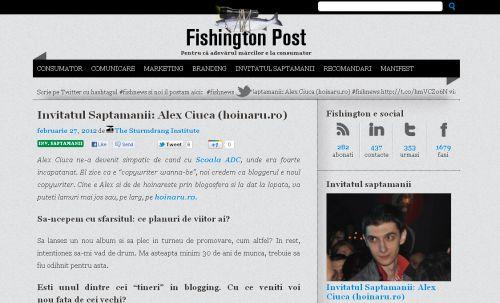 Interviu Fishington Post