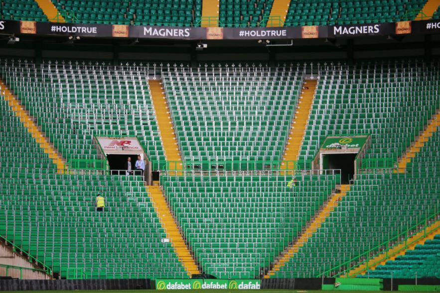 Celtic stadium the new Rail Seating section.